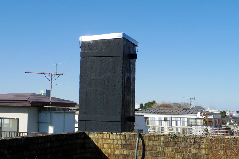 煙突のあとは屋上庭園からも確認できます