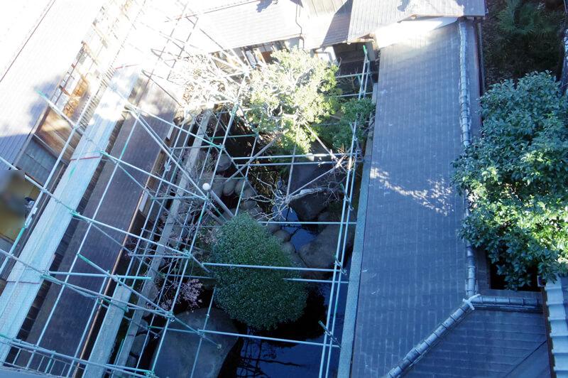 中庭は現在修繕工事中です(屋上より撮影)