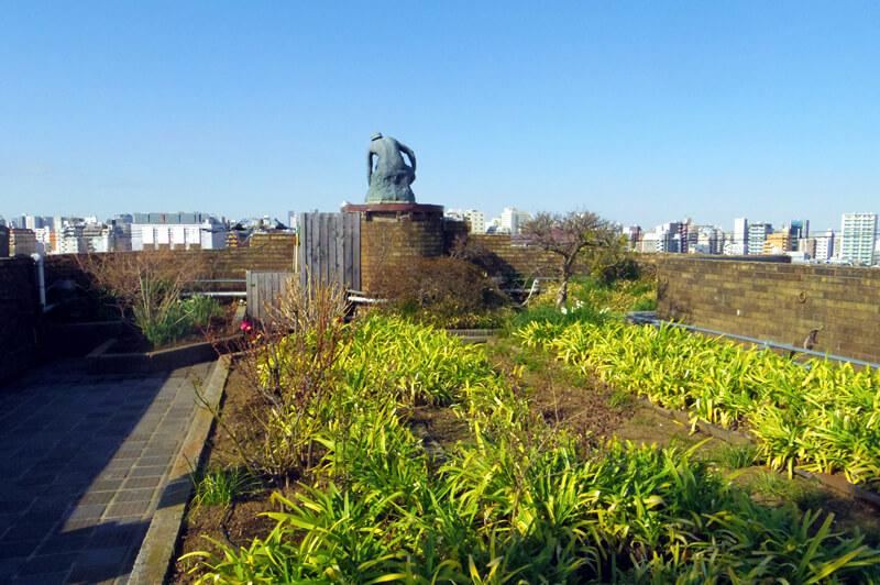朝倉彫塑館屋上庭園