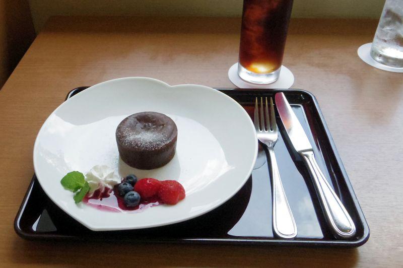 レストラン・ゆりの木のフォンダンショコラセット