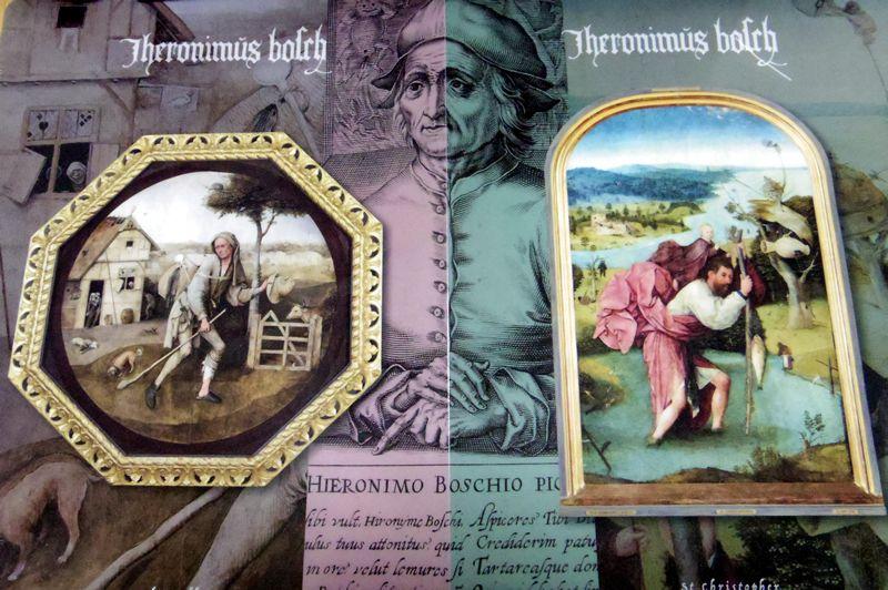 ヒエロニムス・ボス作「放浪者」(左)と「聖クリストフォロス」(右)