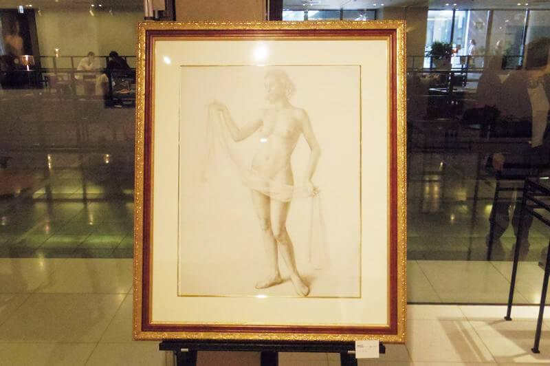 日曜美術館で制作された作品「裸婦習作」