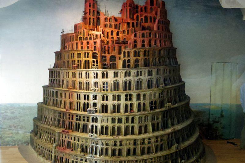 クローン文化財の技術により立体化したバベルの塔