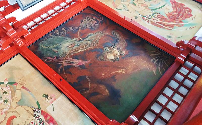川端龍子の天井画